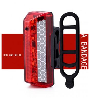 Задний габарит NQY097 красный с белым отражателем
