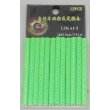 Светоотражающие трубки на спицы зеленые